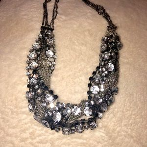 Sparkles and Chain Braided Necklace